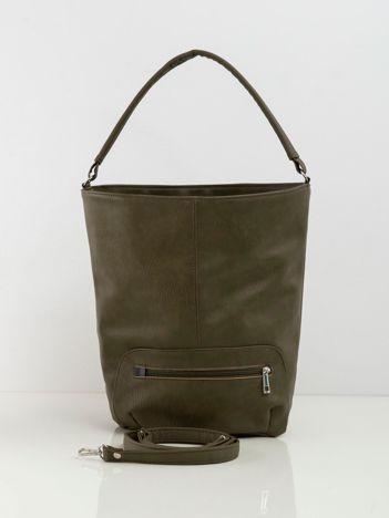 Khaki miękka damska torba