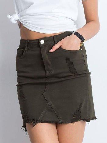 Khaki spódnica Along