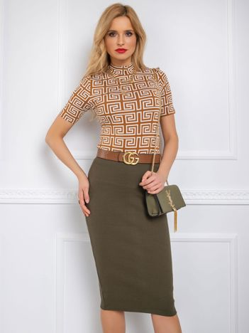 Khaki spódnica Jammie RUE PARIS