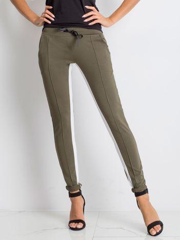 Khaki spodnie dresowe Defined