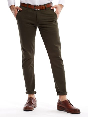 Khaki spodnie męskie chinos