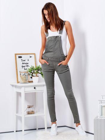 Khaki spodnie ogrodniczki