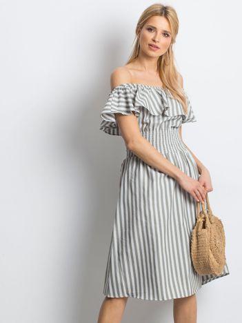 Khaki sukienka Caveats