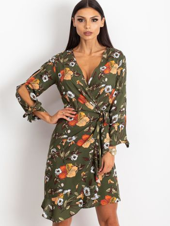 Khaki sukienka Maybe