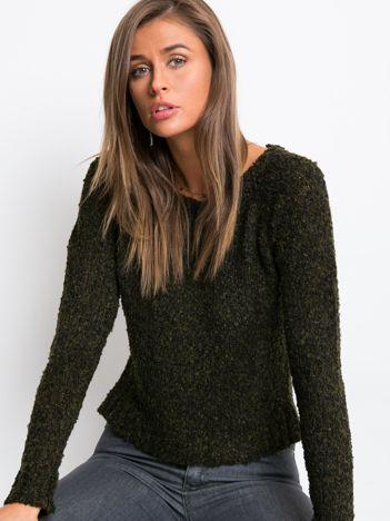 Khaki sweter Boucle
