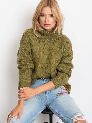 Khaki sweter Heavenly