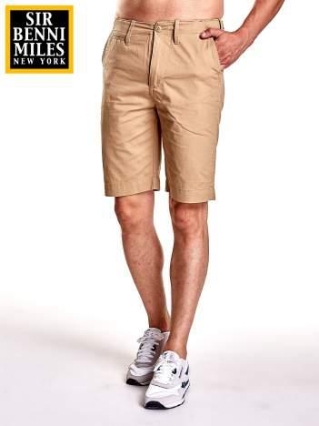 Khaki szorty męskie do kolan