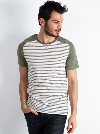 Khaki t-shirt męski Future