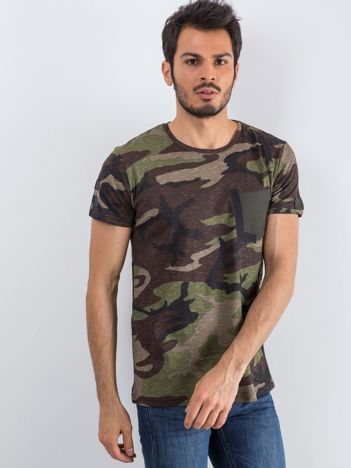 Khaki t-shirt męski Warrior