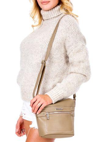 Khaki torba listonoszka z kieszeniami