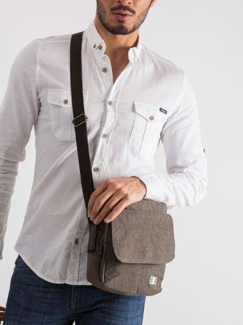 Khaki torba męska z klapką