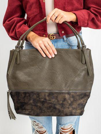 Khaki torba shopper