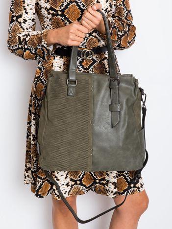 Khaki torba z eko skóry