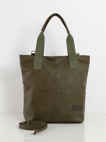 Khaki torba ze skóry ekologicznej