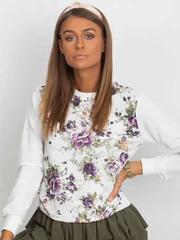 Klasyczna bluza w kwiatowy print
