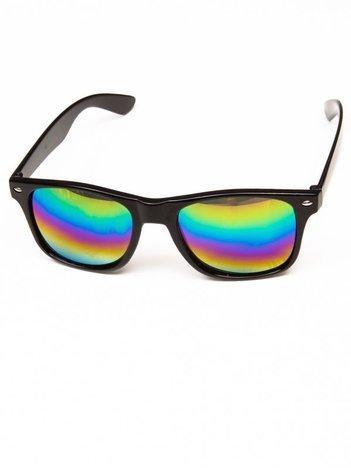 Klasyczne okulary w stylu WAYFARER unisex z szybą OMBRE POŁYSK