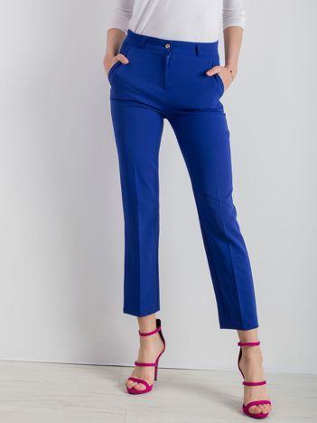 Kobaltowe eleganckie spodnie