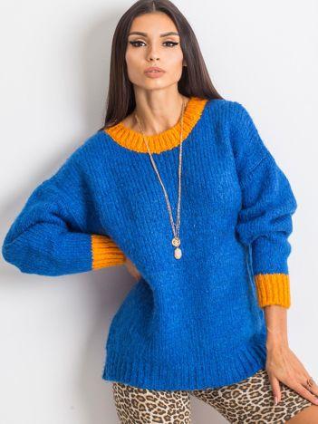 Kobaltowy sweter Pretty