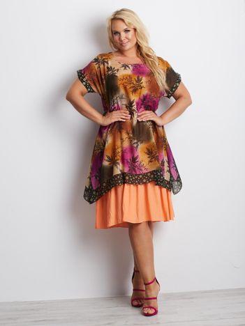 Kolorowa sukienka plus size Kentucky