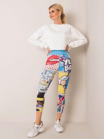 Kolorowe legginsy Comic RUE PARIS