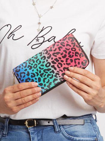 Kolorowy portfel w cętki