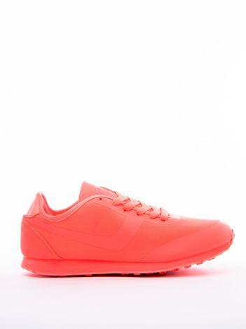 Koralowe buty sportowe z miękkiej tkaniny