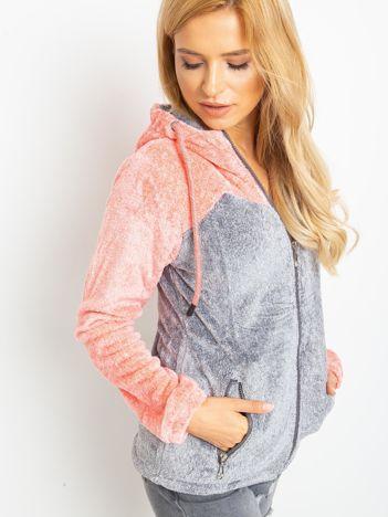 Koralowo-szara bluza Couture
