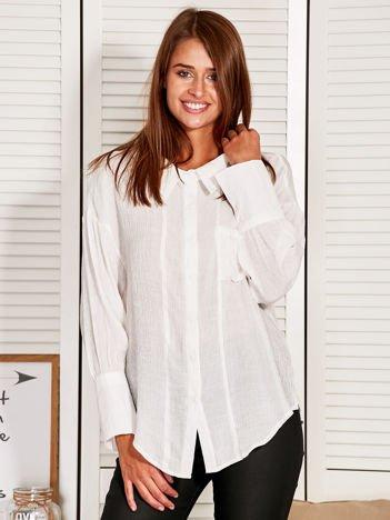 Koszula damska z wycięciem z tyłu biała