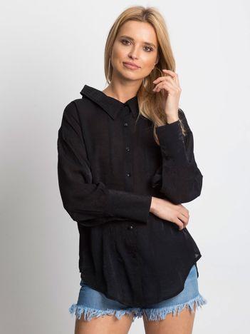 Koszula damska z wycięciem z tyłu czarna