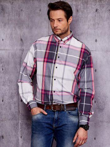 Koszula męska w szeroką kratę PLUS SIZE