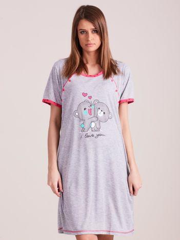 Koszula nocna do karmienia różowa