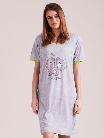 Koszula nocna do karmienia zielona