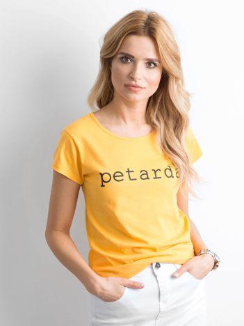 Koszulka z napisem żółta