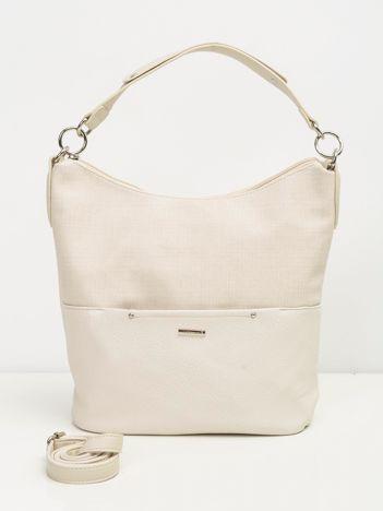 Kremowa miękka torba na ramię