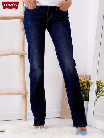 LEVIS Ciemnoniebieskie jeansy damskie