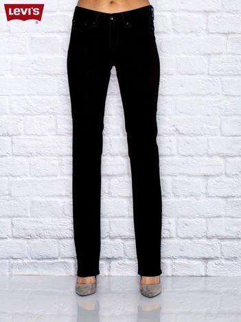 LEVIS Czarne jeansy straight