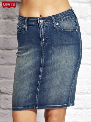 LEVIS Niebieska ołówkowa jeansowa spódnica