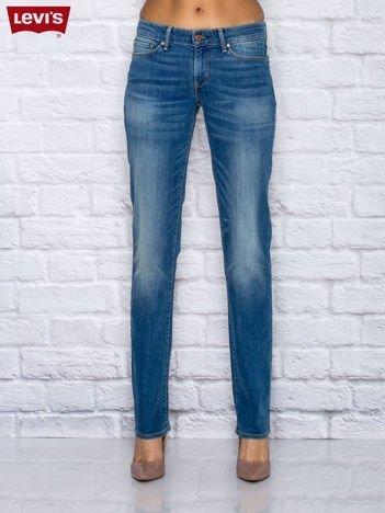LEVIS Niebieskie jeansy z przetarciami