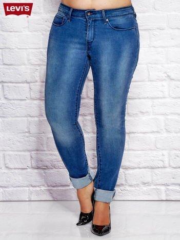 LEVIS Niebieskie spodnie jeansowe skinny PLUS SIZE