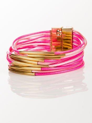 LOLITA Bransoletka ze sznureczków ze złotymi wstawkami zapinana na magnes