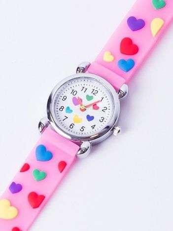LOVE Jasnoróżowy Dziecięcy Zegarek SERCA
