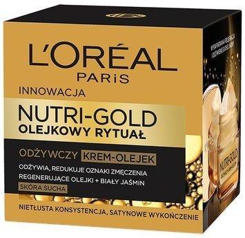 L'Oréal Nutri Gold Olejkowy Rytuał Lekki krem-olejek odżywczy do skóry suchej 50 ml