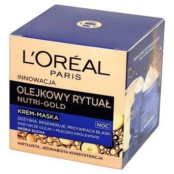 L'Oréal Nutri Gold Olejkowy Rytuał krem-maska na noc do skóry suchej 50 ml