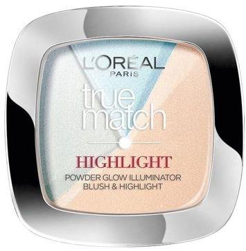 L'Oreal True Match Highlight pudrowy rozświetlacz do twarzy  302.R/C Icy Glow 9 g