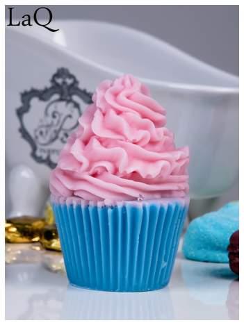 LaQ Mydełko Duża Muffinka - różowo-niebieski / Zapach - truskawka + wata cukrowa BEZ SLS i SLES