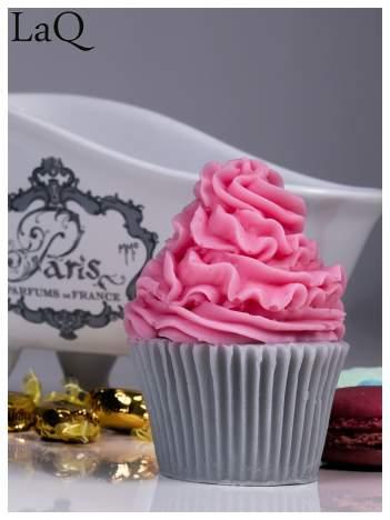 LaQ Mydełko Duża Muffinka - różowo-szary / Zapach - truskawka + wata cukrowa BEZ SLS i SLES