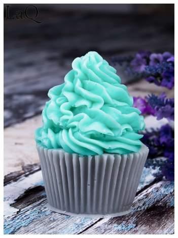 LaQ Mydełko Muffinka - zielono-szary / Zapach - jabłko i orzechy + wata cukrowa BEZ SLS i SLES