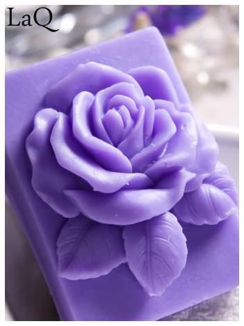 LaQ Mydełko Róża w prostokącie - fioletowy / Zapach - lawenda BEZ SLS i SLES