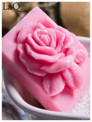 LaQ Mydełko Róża w prostokącie - różowy / Zapach - truskawka BEZ SLS i SLES
