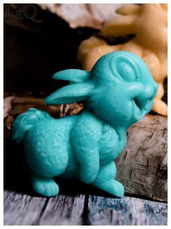 LaQ Mydełko Uśmiechnięty królik - zielony / Zapach - jabłko i orzech BEZ SLS i SLES